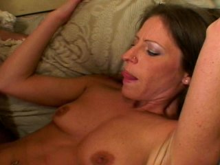 Hairy Parts Brunette video: Pretty brunette parts her hairy pussy