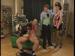 Butler gets his own blow job from the maid
