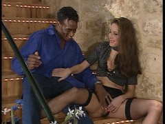 Ebony and ivory fuck each other silly in this mini-orgy