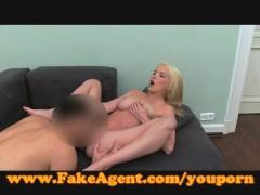 FakeAgent Feisty blonde amateur fucks in casting