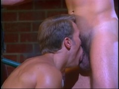 Muscular guy takes a big cock up the ass in the barn - VCA