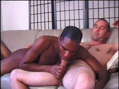 Black guy enjoys a big white cock in his ass - Inferno