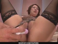 Gorgeous Yurika Momo In Stockings Fucked With Sex Toys