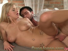 DaneJones Her big natural tits beautiful blonde hair and tight wet young pussy