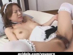 Japanes babe fucked dressed as a maid Uncensored