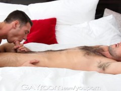 GayRoom Muscled stud gets massage and pounded
