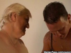 This granny is fat and horny