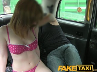 Amateur British porno: FakeTaxi Innocent red head gets taxi scamed