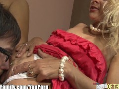 Mom and Daughter Fuck and Blow the same Cock
