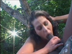 Horny Brunette Tastes BBC For First Time - Naughty Risque