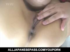 Sayuri Marui and dame suck and fuck same cock in wild threesome