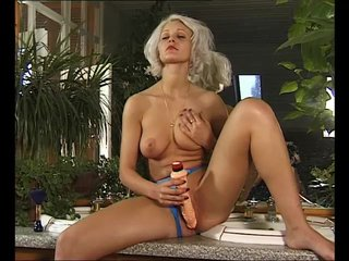 Busty Horny Orgasm video: Blonde Uses A Large-Dildo - Julia Reaves