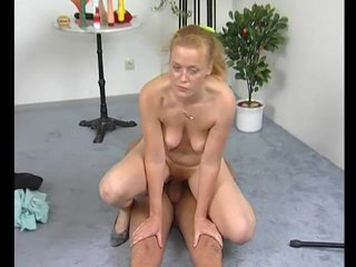 Blonde Blowjob Milf video: Fuckign a pale german chick - Julia Reaves