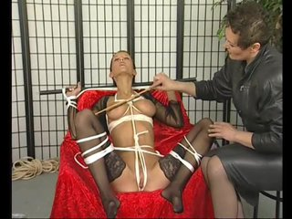 Bigtits Bondage Brunette video: Brunette MILF loves being tied up - Julia Reaves
