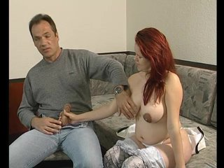Handjob Redhead Chubby video: Big, round tits - Julia Reaves