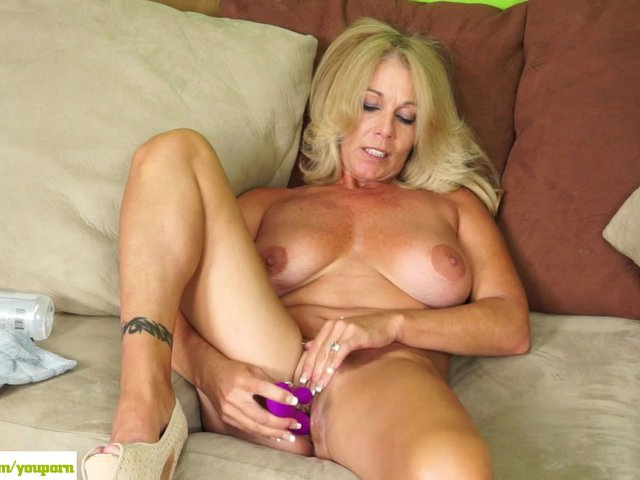 image Beautiful blonde milf invites neighbor over for anal sex