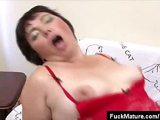Stockings Lingerie Chubby video: Lingerie Clad Chubby Mature Fucked