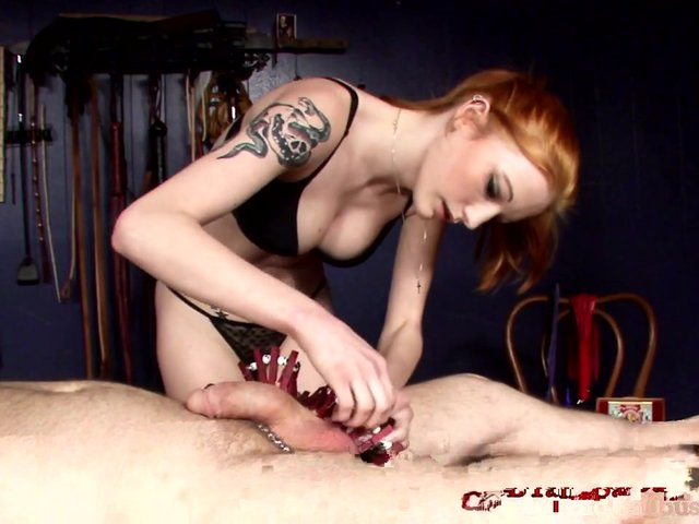 CBT slave gets cock torment to test his limits