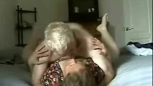 Mature couple fucking for home video
