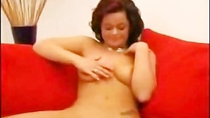 Cute horny german girl doing some porn audition