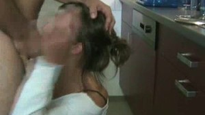 blowjob in the kitchen