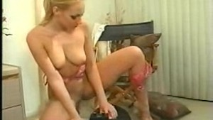 Blond on sex toy part 3 of 5