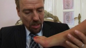 Older Gentleman Gets a Foot Job