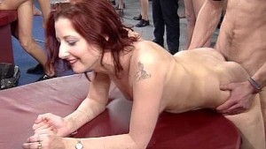 Hard work at the gangbang booth - Pink Video