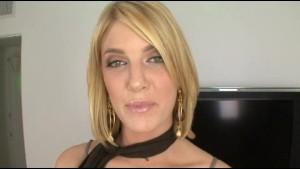 Beautiful Blonde Babe Sucks Cock
