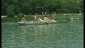 Great big orgy on the lake at the summer house pt 1/3