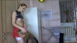 Lesbian housewife and a girl