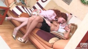 Lesbians in nylons fucking