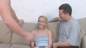 Hot Wifey Takes Jizz Shower