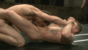 Champion wrestler rides his opponent s cock
