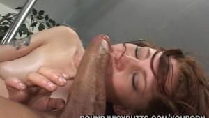 Big Butt Brunette Dick Fucked