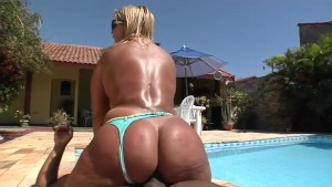 Brunna Bulovar displays her massive ass