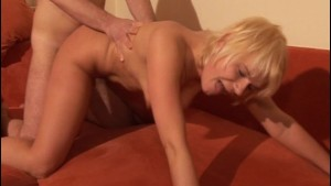 Guy fucks blondes pussy