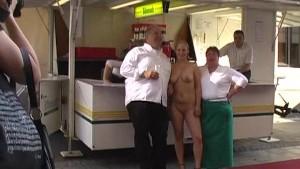Spectacular public nudity with horny cutie