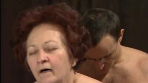 Gramma shafted and sprayed with spunk