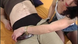MILF sucks younger guys cock