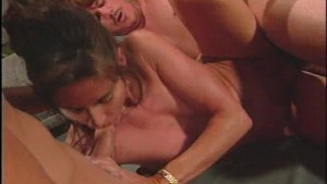 Sexy girl gets laid by two hung dudes