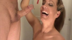 MILF Mia Holiday In Red BJ