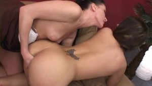 Two Pretty Girls Help Each Other Cum