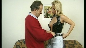 Old guy fucks hot blonde girl