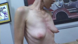Skinny girl can suck and smother at the same time