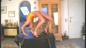 Karen stretching to the limit (movie)
