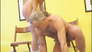 Nurse fucks doctor in the waiting room