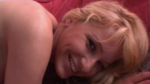 Young Czech blonde Natali with two dildos - Banapro s.r.o.