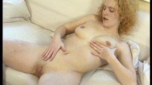 Pale blonde amateur plays with herself - DBM Video