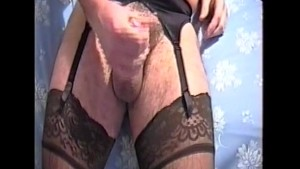 Secret Nylon Wank Pt1